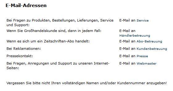 E-Mail-Kontakte ohne Adressnennung
